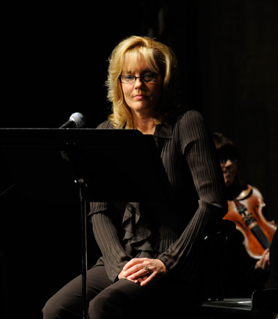 Karen Sharp listens to the orchestra