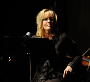 Karen Sharp listens to the orchestra.